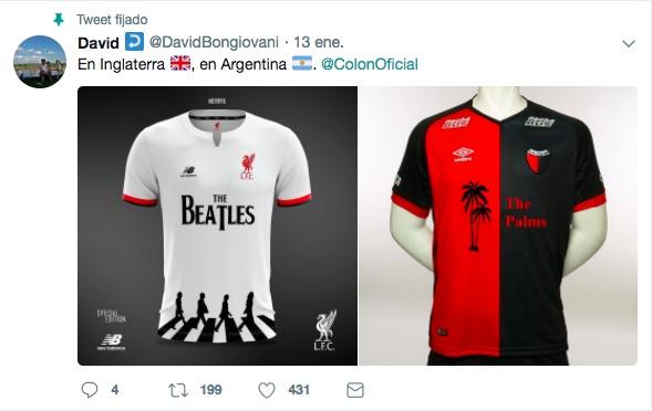 c3a1dbe24a Inspirados o no en el modelo de Bongiovani, a finales de enero el  presidente rojinegro José Vignatti anunció que la camiseta del equipo  tendría ...